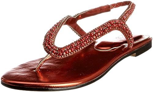 Unze MujerColor Rojo Evening Sandals L18359w Sandalias Para pVUSqzMG