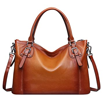0637b102444e Buy BIG SALE-S-ZONE Women s Vintage Genuine Leather Handbag Tote Shoulder  Bag Large Capacity Online at Low Prices in India - Amazon.in