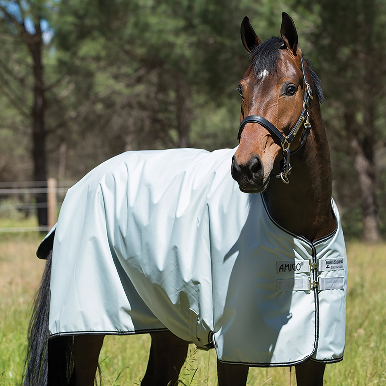 Horseware Amigo Hero 6 Turnout Lite 50g Silver/Black & Black