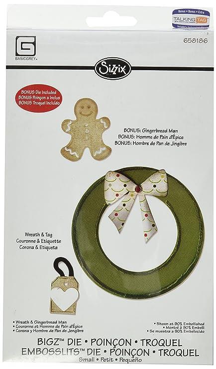 Amazon.com: Sizzix Bigz with Bonus Embosslits Die - Wreath ...