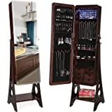Amazon Price History for:SONGMICS 8 LEDs Jewelry Cabinet with Bevel Edge Mirror Lockable Standing Armoire Organizer with 6 Drawers and Earring Board