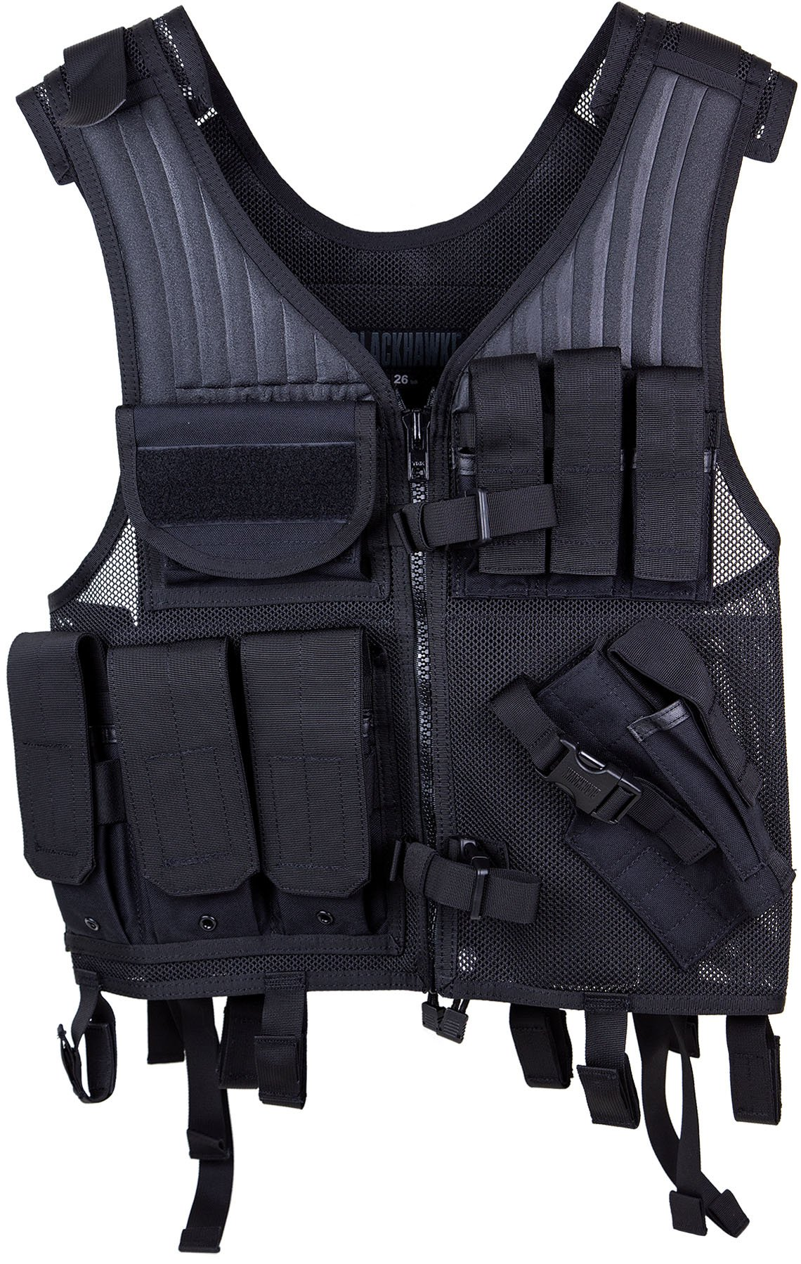 Elite Pistol Vest, Tactical Nylon Mesh, Adjustable Black by Elite