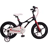RoyalBaby Space Shuttle Lightweight Magnesium Kid's Bike with Disc Brakes for Boys and Girls, 14-16 Bike with Training Wheels, 18 inch Bike with Kickstand, 3 Colors Available