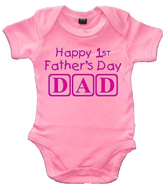 HAPPY 1ST Fathers DAY Dad con mangas para bebé body de/pijama