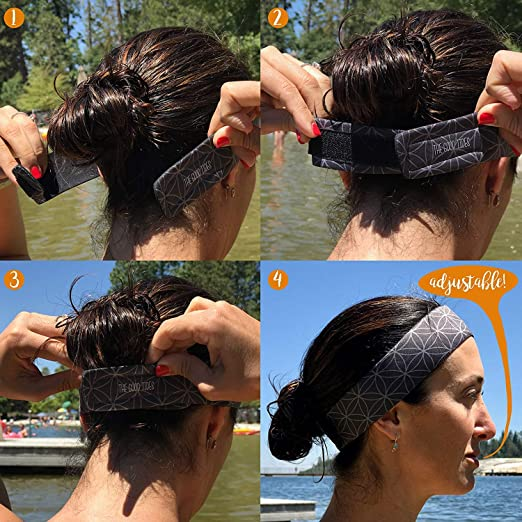 Frank Braided Headband Under Non Slip Armour Style Sweaty Head Sports Thick Hair Bands Clothing, Shoes & Accessories Hats & Headwear