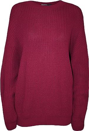 Sphere New Womens Ladies Chunky Knit Fisherman Jumper Sweater Loose