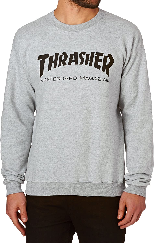 Thrasher Crew Skate Mag Logo Pullover Hoody: Clothing