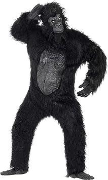 Smiffys-24230 Disfraz de Gorila Deluxe, Body con Pelo de Caucho ...