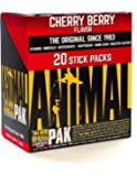 Animal Pak - The Complete All-in-one Training Pack - Multivitamins, Amino Acids, Performance Complex and More - for Elite Athelets and Bodybuilders - Cherry - 20 Stick Packs