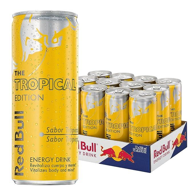 Red Bull Tropical Bebida Energética - Paquete de 12 x 250 ml - Total  3000 2509285d10c