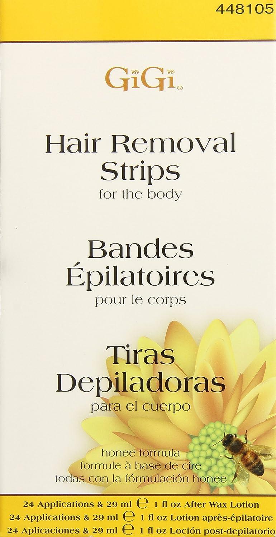 GIGI Strips Body Hair Removal 12 Strips (24 Applications), White, 3.98 Oz 0660