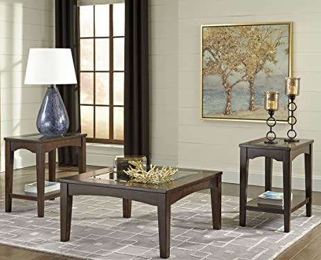 Ashley Cronnily Collection T056 13 3 Piece Occasional Table Set With 1  Cocktail Table