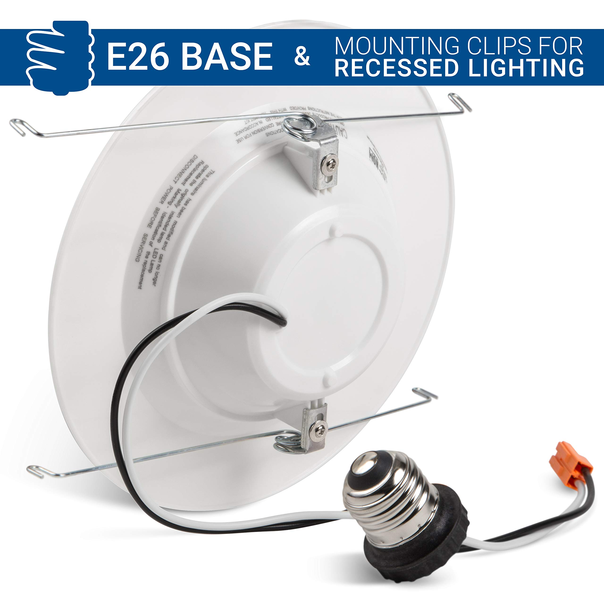 """Hyperikon 6"""" LED Recessed Lights (5 Inch Compatible) 14W Downlight Dimmable (75W Equiv.) LED Retrofit Lighting Fixture, Ceiling Recess Can Lights, Halo Retrofit Baffle Trim, 3000K, CRI84, UL (16 Pack) by Hyperikon (Image #6)"""