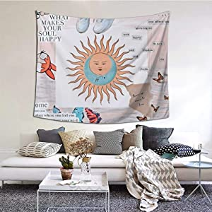 Wonderwall Printed Tapestries Wall Hanging for Living Room Home Decor 60inX51in