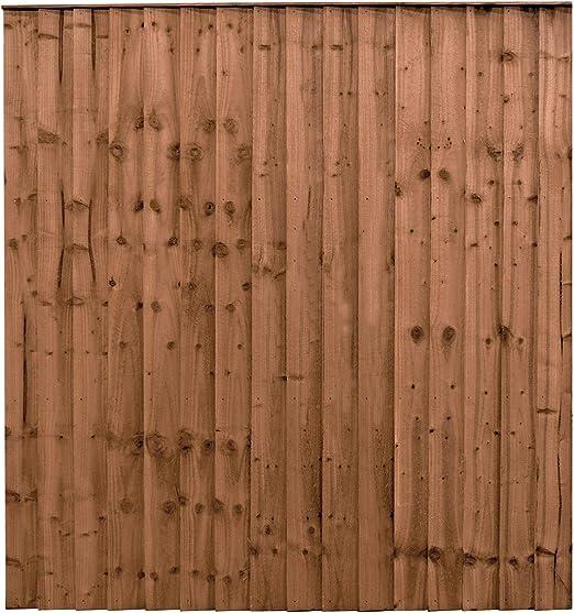 6 pies x 6 pies de Madera de Valla tratada a presión de Plumas Edge Paneles para Vallar: Amazon.es: Jardín
