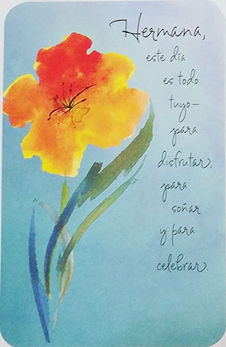 Image Unavailable Not Available For Color Feliz Cumpleanos Hermana Happy Birthday Sister Greeting Card In Spanish