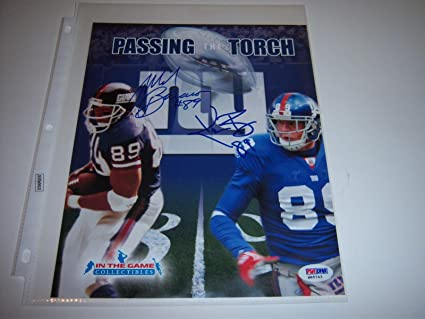 Autographed Kevin Boss Picture Mark Bavaro 8x10 PSADNA  free shipping