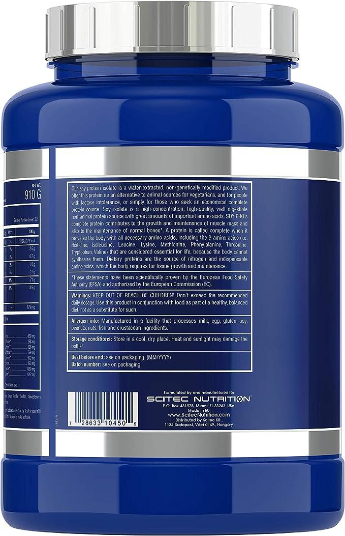 Scitec Nutrition Soy Pro proteína Vainilla 910 g