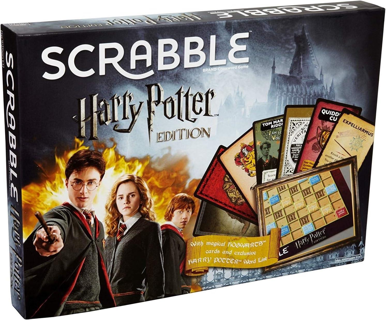 SCRABBLE Harry Potter Edición Limitada, un Giro único en el Juego clásico, delve a Wizarding Words.: Amazon.es: Juguetes y juegos