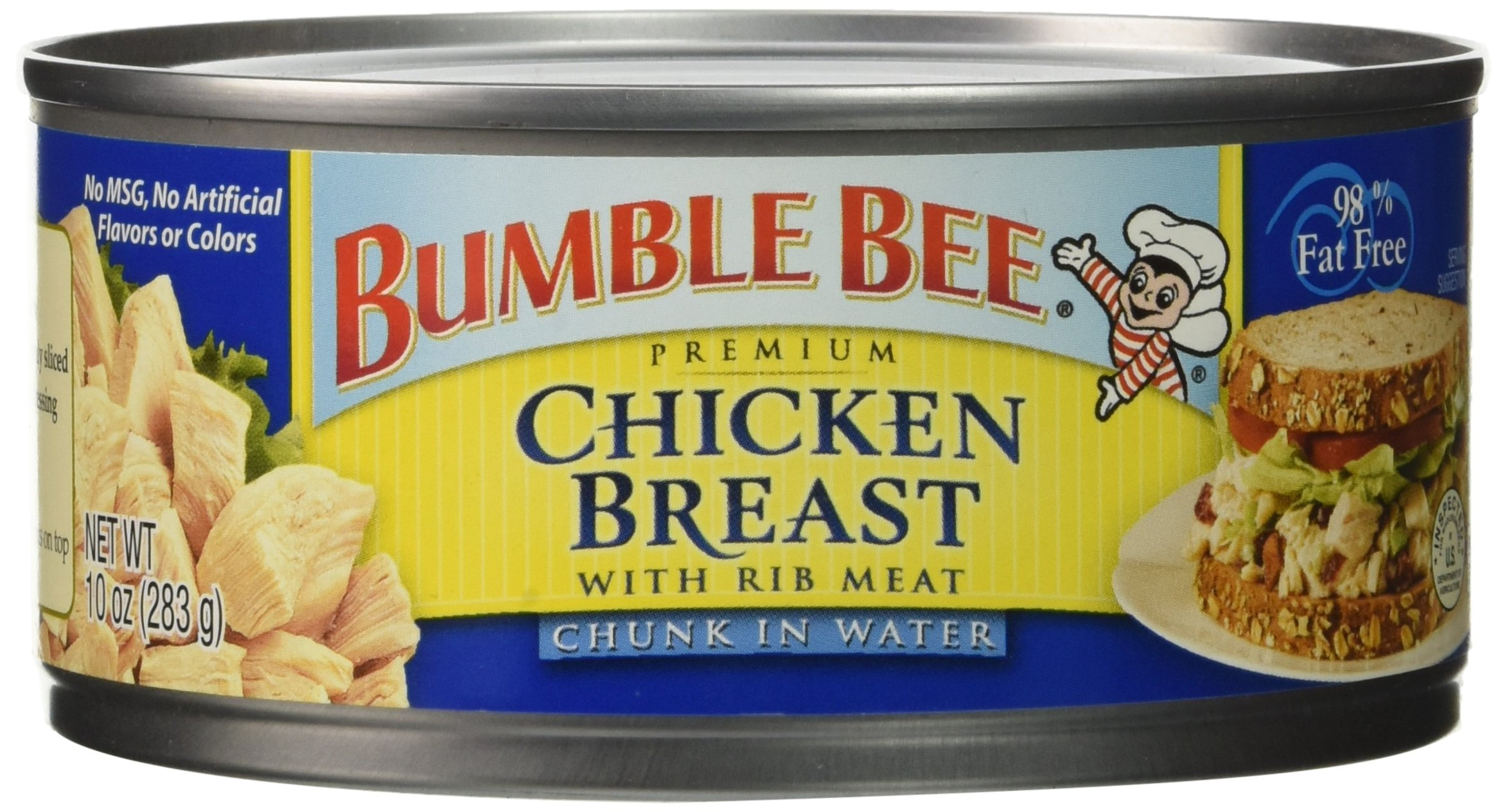 Bumble Bee Premium Chicken Breast in Water, High Protein, Keto, 10 Ounce (10 Cans)
