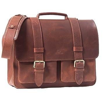 23d1de4f1f ALMADIH Sac en cuir véritable, porte-documents sac bandoulière cartable  serviette cuir sac porté