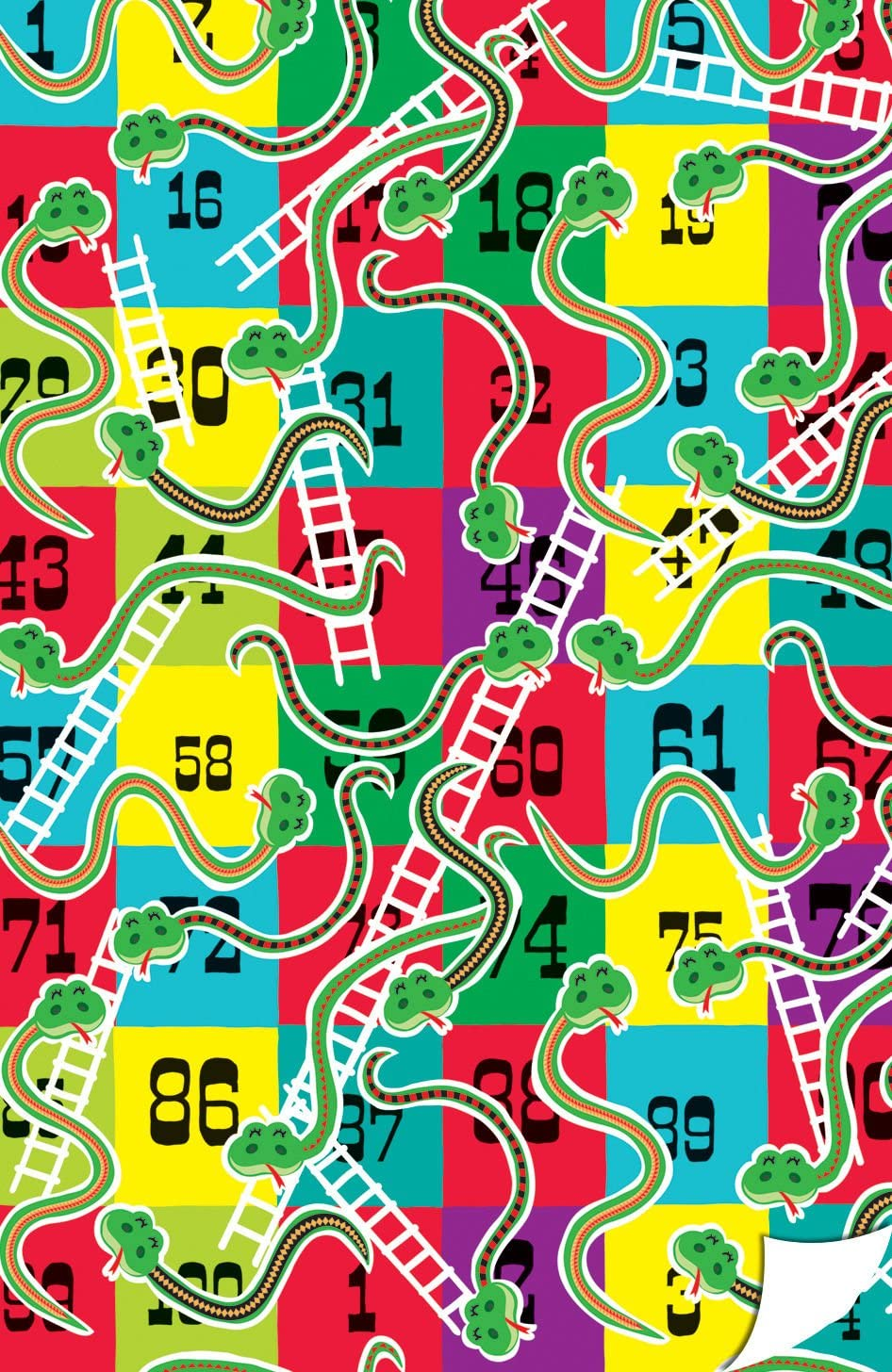 Serpientes y Escaleras Retro de tablero plegado de regalo 2 Gloss Hojas: Amazon.es: Oficina y papelería