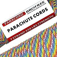 Brotree Paracord Cuerda de Paracaídas de Nylon 550 lbs 7 Resistentes Hebras de Fibra Poliéster para Escalada Kit de…