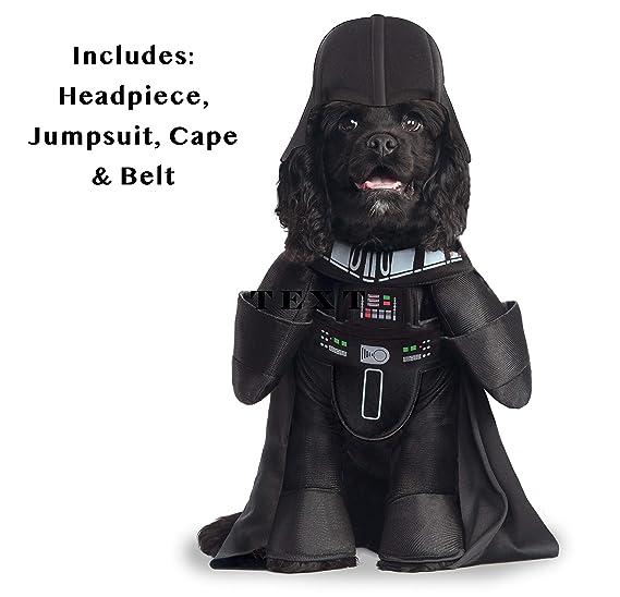 Star Wars - Disfraz de Darth Vader Deluxe para mascota, Talla S perro (Rubies 885900-S)