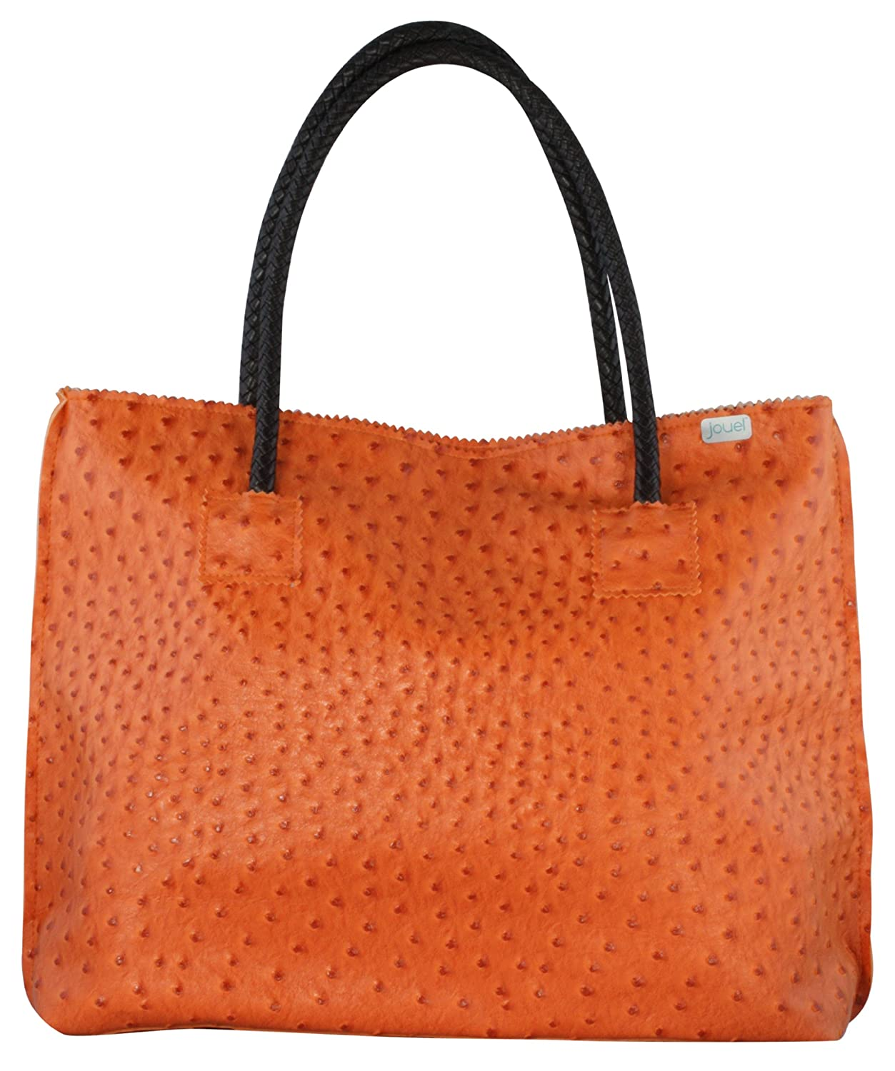 8d1cd8a024ed Designer Inspired Faux Orange Ostrich Leather Rosette Tote Bag  Handbags   Amazon.com