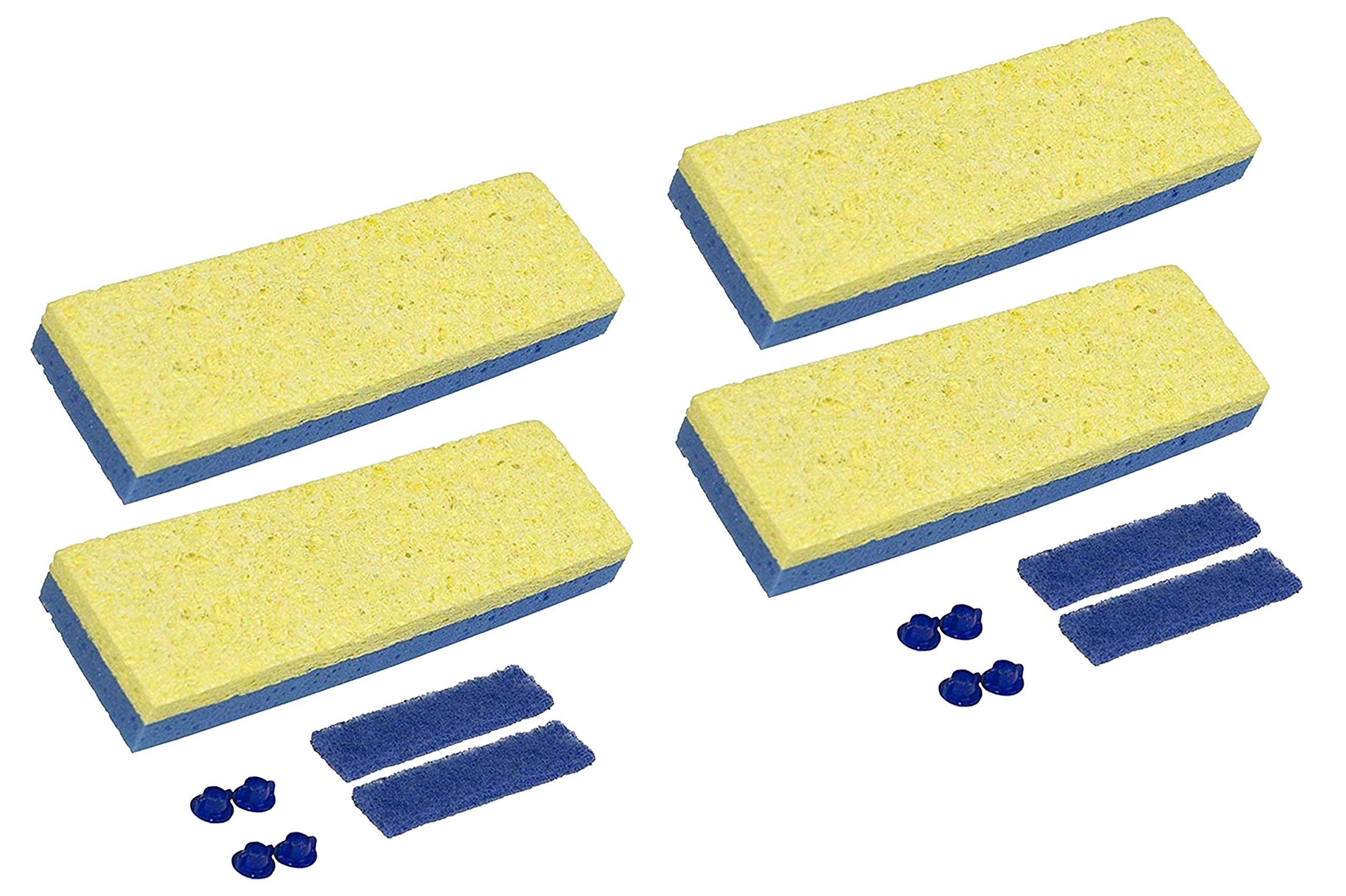 Quickie Sponge Mop Refill 3 '' X 9 '' type S - 4 Pack