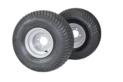 Set de 2) 20 x 10.00 - 8 neumáticos & ruedas 4 capas para césped y ...