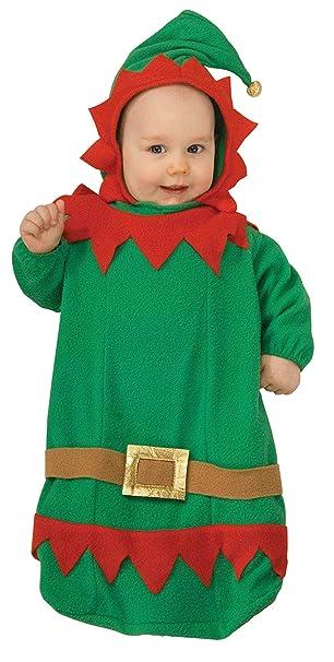 d4aa8b6dc37e Amazon.com  Forum Novelties Baby s Christmas Elf Bunting Costume ...