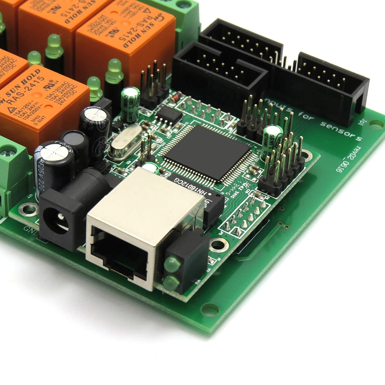 Ethernet Relay Controller Module Web Server Ip Room Temperature Using Lm35 Tl 431 Circuit Sensor Lm35dz Snmp Android Ios 24vdc Electronics