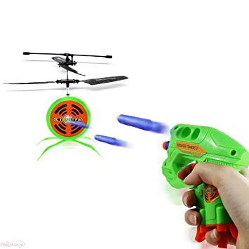 Haktoys HAK207 RC Flying Target Shooting Game | Ultimate Radio Control Gun  Shooting Fun | Excellent