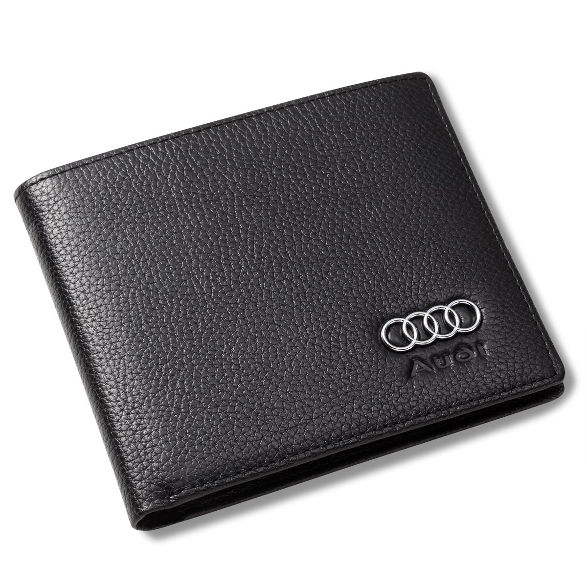 Audi Bifold Wallet with 3 Credit Card Slots and ID Window - Genuine Leather by Leather Wallets