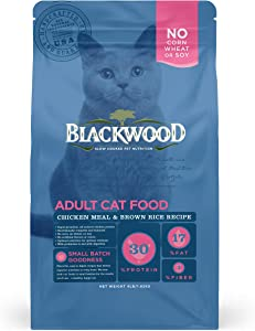 Blackwood Pet Cat Food Made In USA [Super Premium Dry Cat Food For Adult, Indoor, and Senior Cats], Chicken Meal and Brown Rice Recipe
