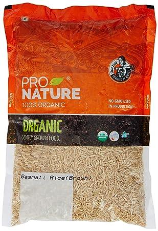Pro Nature 100% Organic Brown Basmati Rice, 1kg