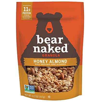 Amazon Com Bear Naked Granola Honey Almond Protein   Oz