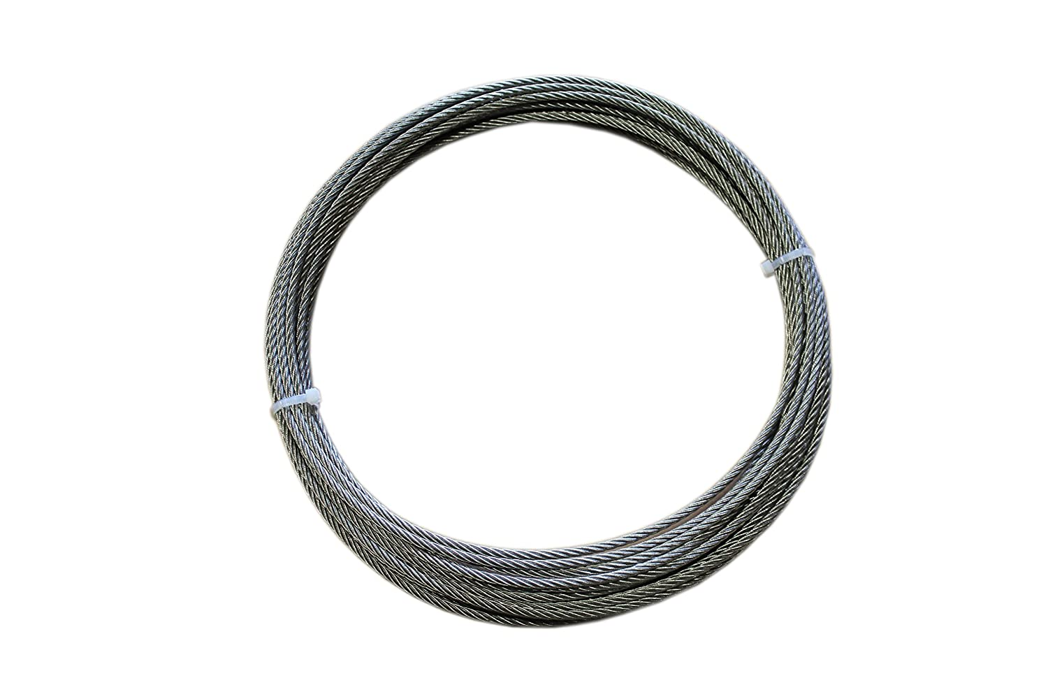 Loos Stainless Steel 18-8 Wire Rope, Military Specification, Lubricated, 7x19 Strand Core, 1/8' Bare OD, 10' Length, 1760 lbs Breaking Strength 1/8 Bare OD 10' Length Loos & Co SF12579D CA00K973
