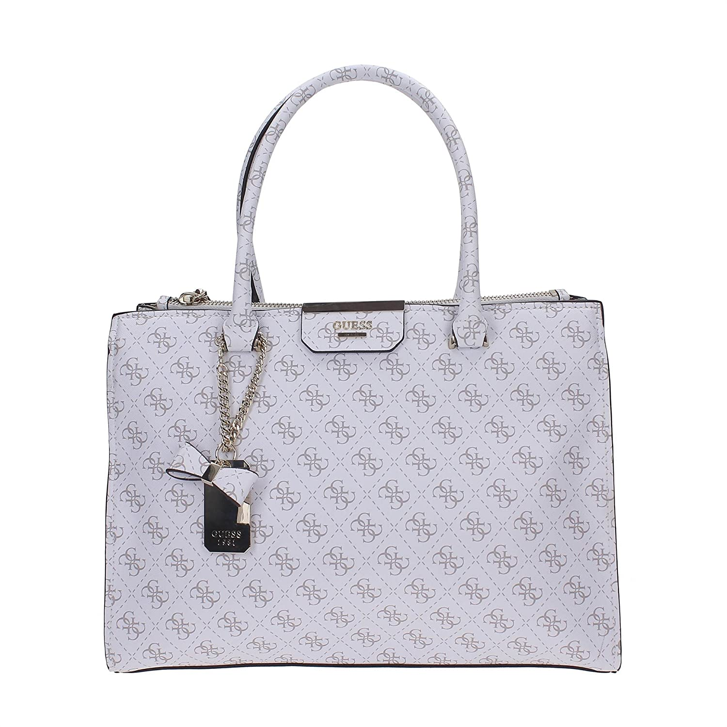 Guess Belfort slap shopping bag white: Amazon.it: Abbigliamento