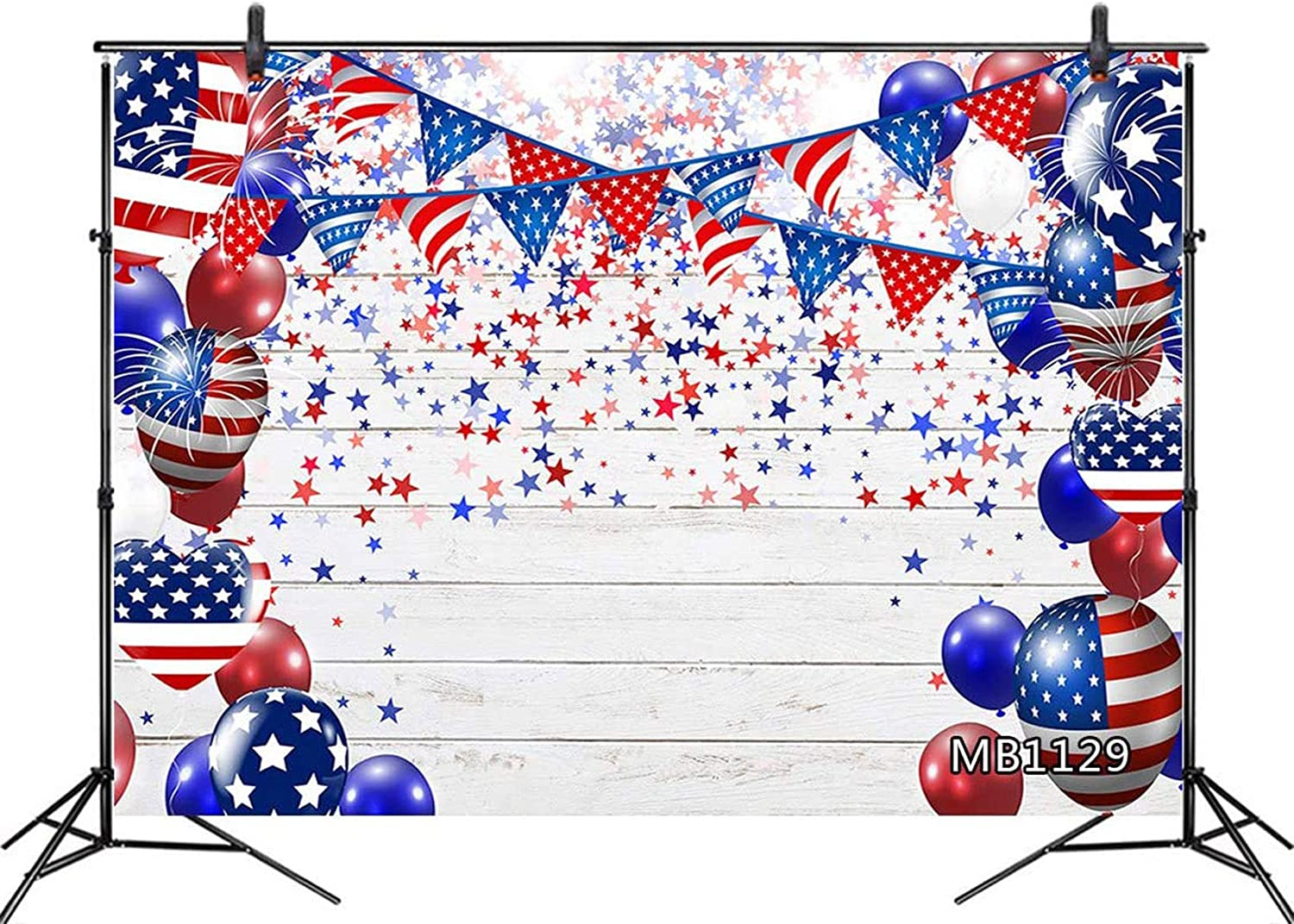 American Flag 4th of July Wood Planks Backdrop HD4-BB-005
