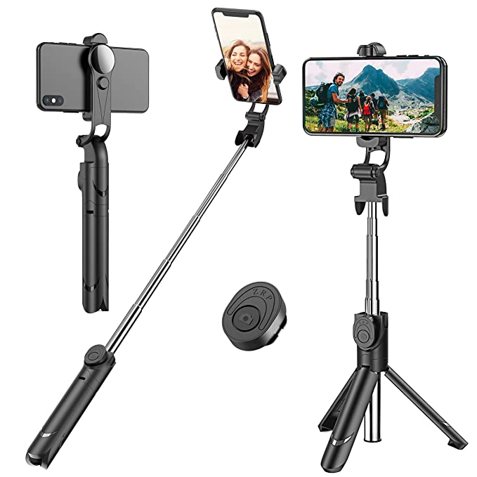 Selfie Stick, Extendable Selfie Stick Tripod With Detachable Wireless Remote And Tripod Stand Selfie Stick For I Phone X/I Phone 8/8 Plus/I Phone 7/7 Plus, Galaxy S9/S9 Plus/S8/S8 Plus/Note8,Huawei,More by Erligpowht