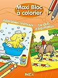 MAXI BLOC A COLORIER ADORABLES ANIMAUX / LE C