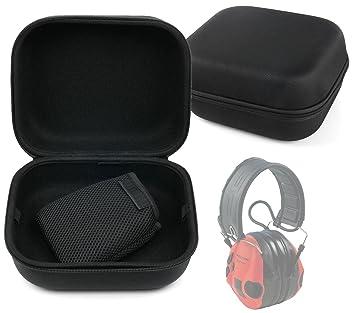 Duragadget - Funda rígida para auriculares de protección auditiva para caza y