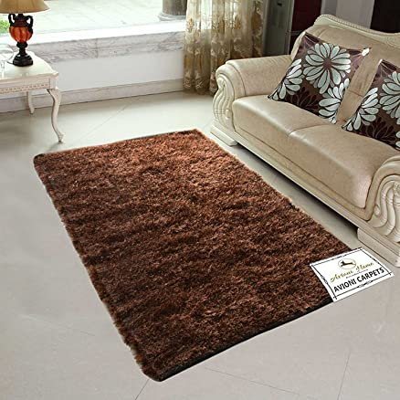 Buy Avioni Handloom Rugs Carpets For Living Room In Fur Reversible ...