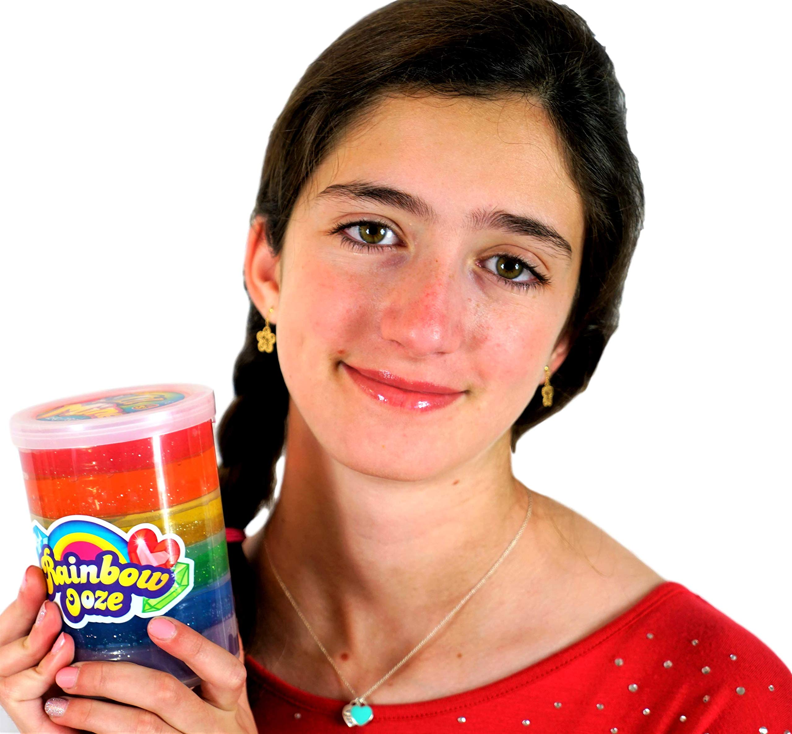 JA-RU Mega Rainbow Slime Ooze 1 Pound (Pack of 36) and one Bouncy Ball Glitter Slime Squishy Sticky and Stretchy   Item #4636-36p by JA-RU (Image #3)