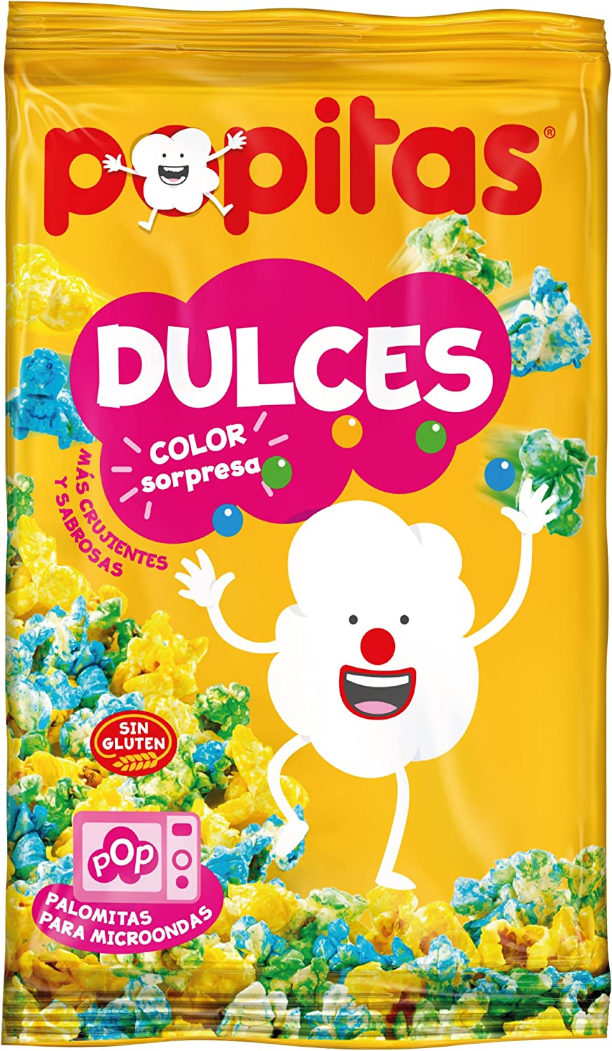 Popitas Dulces Color Sorpresa - 100 gr , Pack de 6: Amazon.es ...