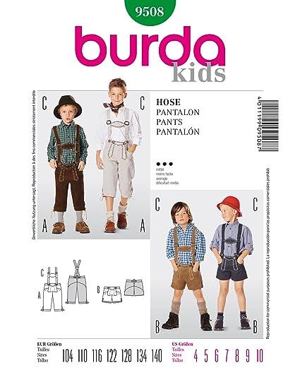 Amazon.com: Burda Kids Pants/Shorts Sewing Pattern 9508: Arts ...