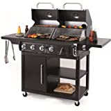 Buffalo Charcoal and Gas Combo BBQ Compatible with 57cm Grid-in-Grid System