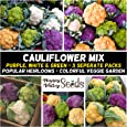 Cauliflower Heirloom Mix 150 Seeds Mixed Vegetable Garden 3pks Easy Grow Non GMO